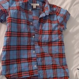 Burberry boys shirt size 6